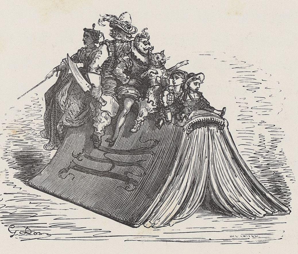 Contes de perrault illustrés par Gustave Doré, 1862. Disponible sur Gallica.