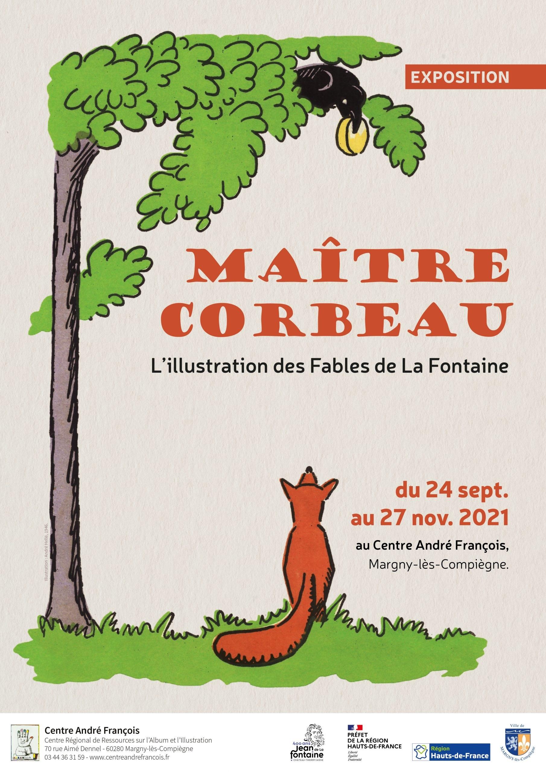 """Exposition """"Maître Corbeau : l'illustration des Fables de La Fontaine"""""""